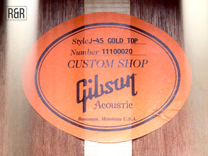 Gibson J45 Gold top Acoustic Guitar