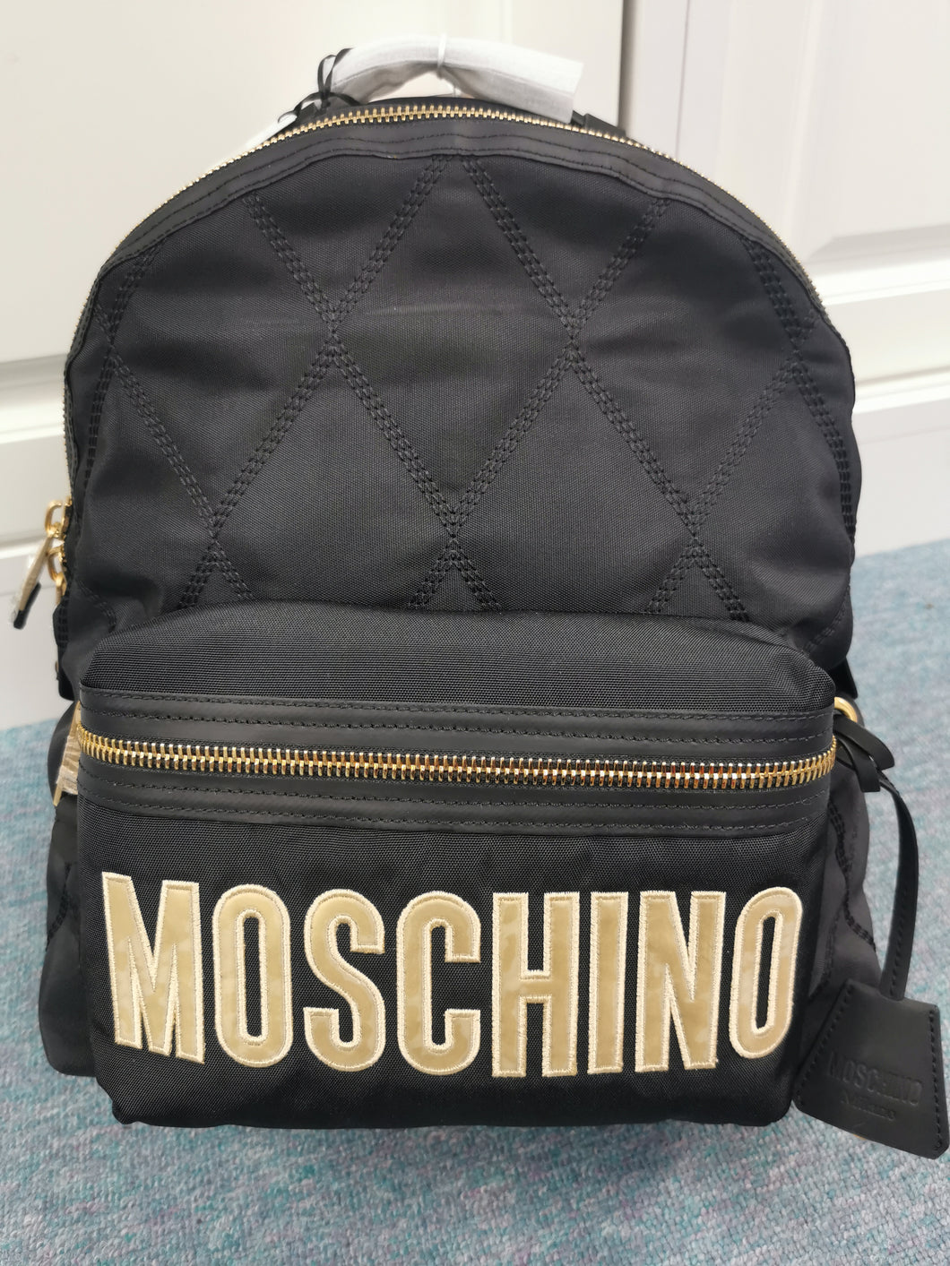 Moschino Women's Logo Backpack Fantasy Print