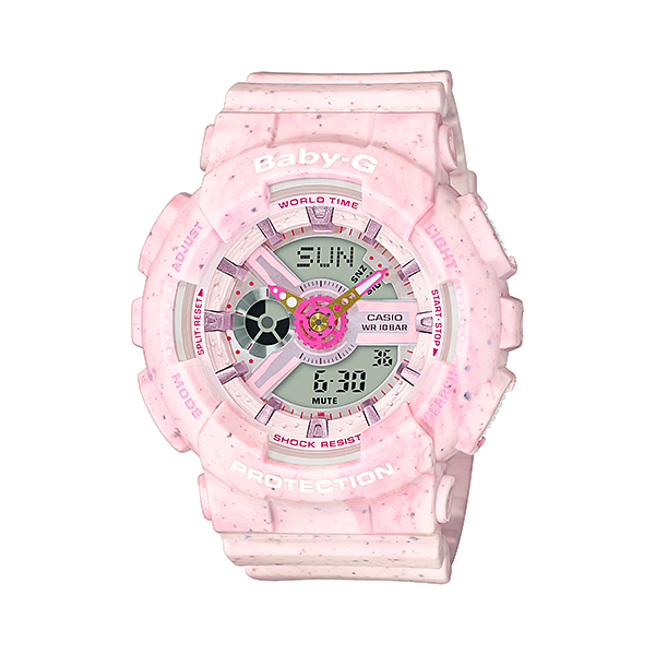 From BABY-G, the casual watch for active women, comes a pair of new pop design models in pastel colors. Based on the popular masculine design BA-110, these models are done in colors that capture the look and feel of popular ice cream flavors.
