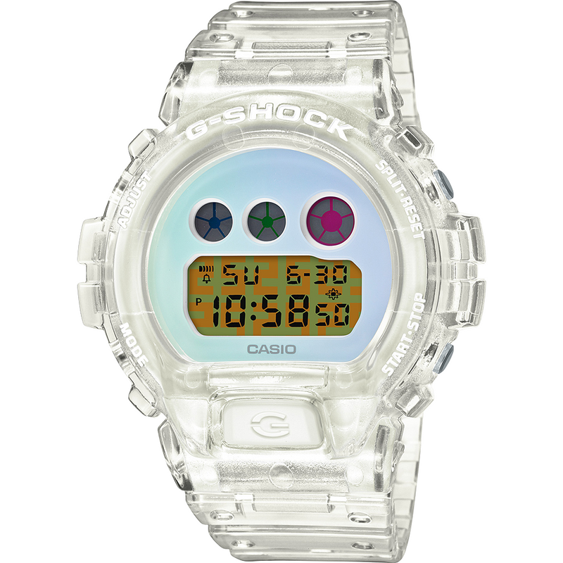 Casio G-Shock Semi-Transparent Resin DW6900SP-7 White 25th Anniversary 2020