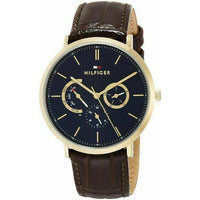 Tommy Hilfiger Watch 1710376 Dane Multi-Function Analog Casual Men's Brown Band