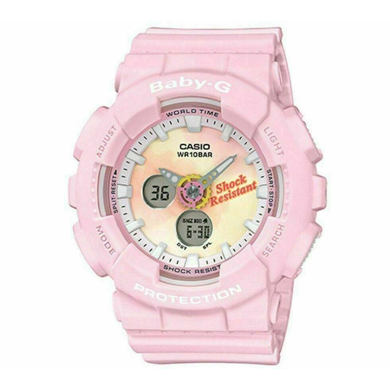 NEW Casio Baby-G BA-120TG-4A Tie-Dye Patterns Analog Digital Ladies Watch