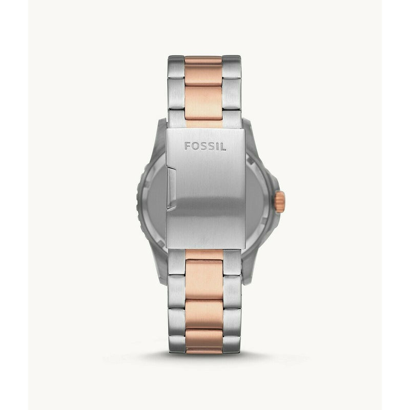 Fossil FB-01 Gold and Silver Two-Tone Stainless Steel Wrist Watch FS5654