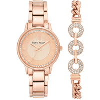 Anne Klein Rose Gold-Tone Watch and Bracelet Set, 3520-RGST