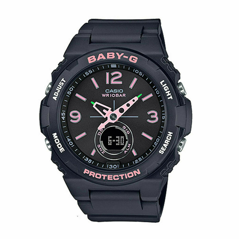 Casio BABY-G Ladies Analog-Digital Casual Black Band BGA-260SC-1A