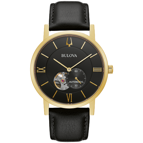 Bulova 42mm American Clipper Men's 21-Jewel Automatic Watch - Black 97A154