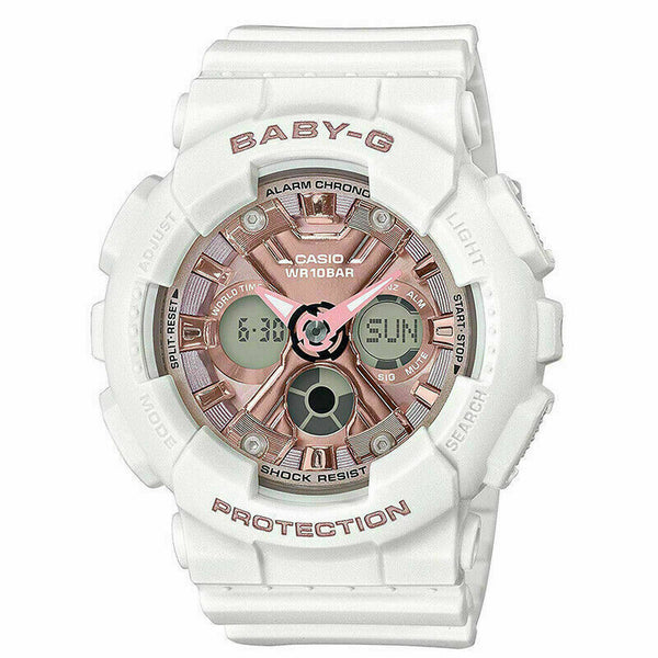 Casio Baby-G Analog-Digital BA-130 Series White Resin Band BA130-7A1 BA-130-7A1