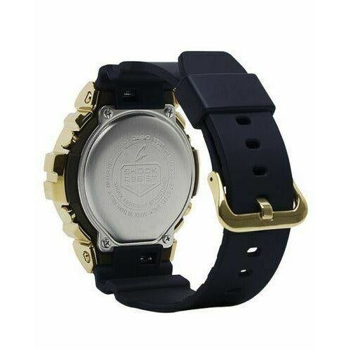 New Casio G-Shock Gold-Tone Forged Case Black Resin Men's Watch GM6900G-9