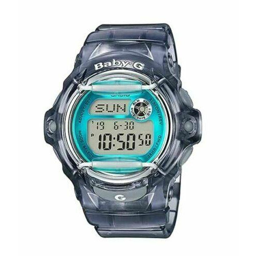 Casio BABY-G BG169R-8B Whale Series Women's Gray Teal Resin Digital Watch