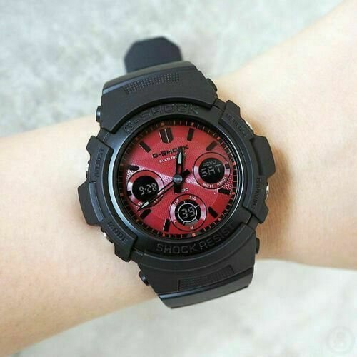 Casio G-Shock Black and Red Series Watch AWRM100SAR-1A with one year Warranty!