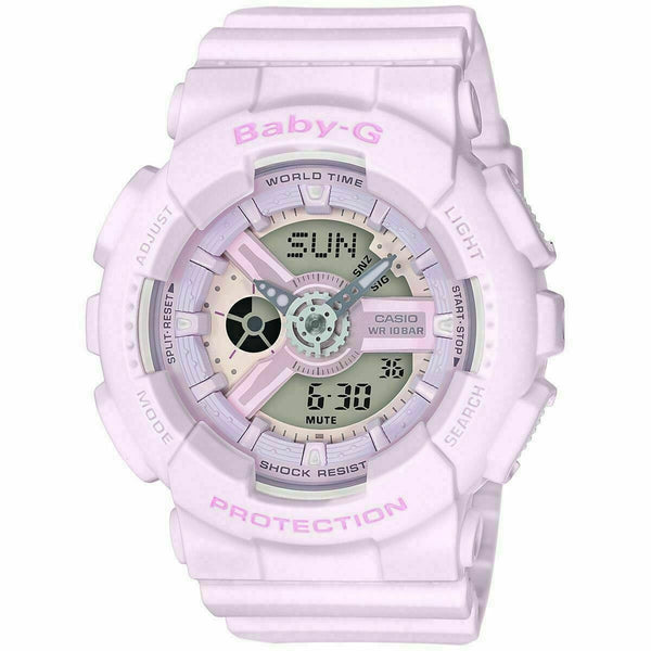 Casio Baby-G BA110 Pink Color Resin Band Watch BA110-4A2 BA-110-4A2