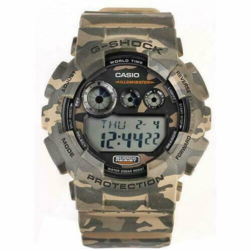 NEW Casio Digital Sport Watch G-SHOCK CAMOUFLAGE Multicolored Men's GD-120CM-5D