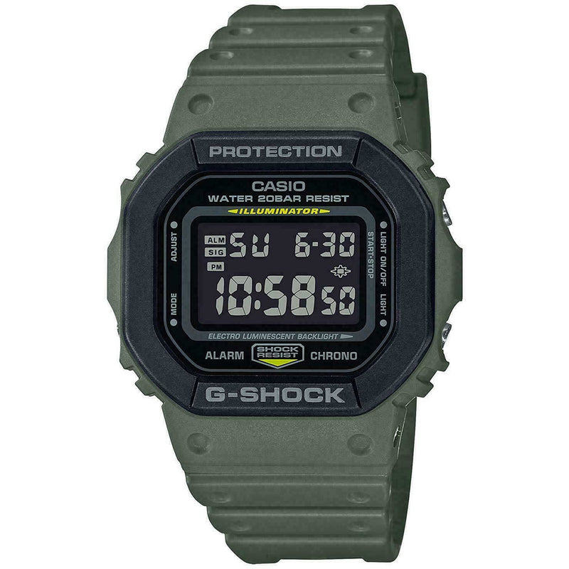 Casio G-Shock DW5610 Digital Resin Army Green/Black Men's Watch DW5610SU-3
