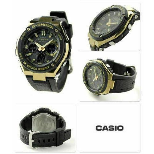 Casio Men's G-Steel Tough Solar Resin Band Gold 200m Watch GSTS100G-1A