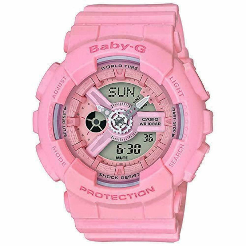 Casio Baby-G Ladies Analog-Digital casual Pink Band BA-110-4A1