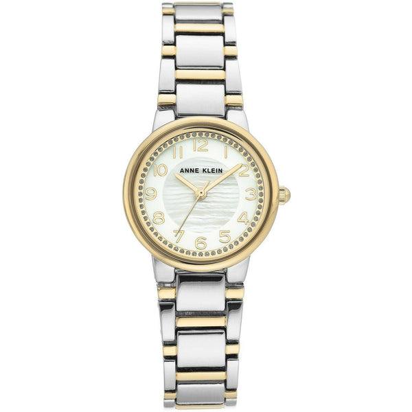 Anne Klein Women's Glitter Accented Bracelet Watch Two Tones, 3605-MPTT