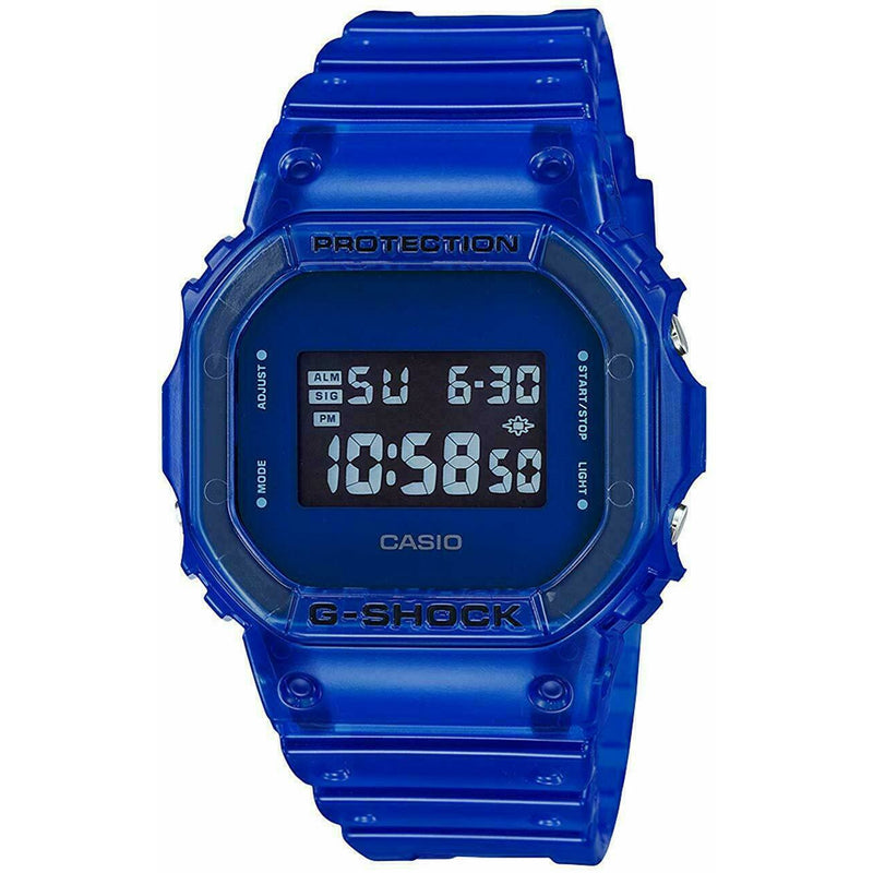 Casio G-Shock DW-5600SB-2 Digital Skeleton Series Blue Resin Men's Watch