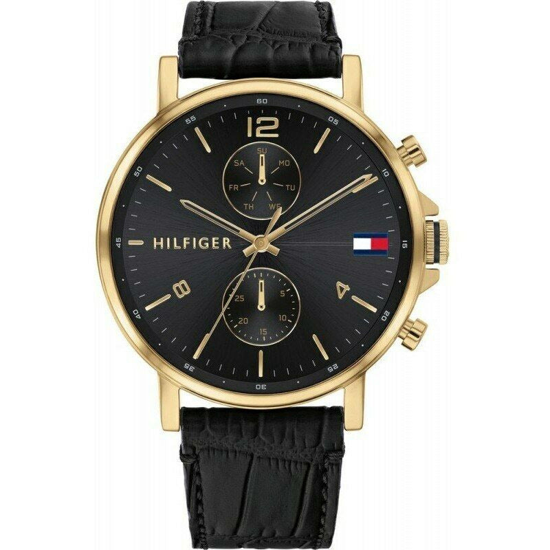 Tommy Hilfiger Men's Analogue Quartz Watch with Leather Strap 1710417