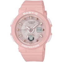 CASIO BABY-G BGA250-4A SHOCK RESISTANT QUARTZ PINK RESIN BAND WOMAN'S