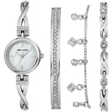 Anne Klein Women's Swarovski Crystal Accented Watch and Bracelet Set, 3083-SVST