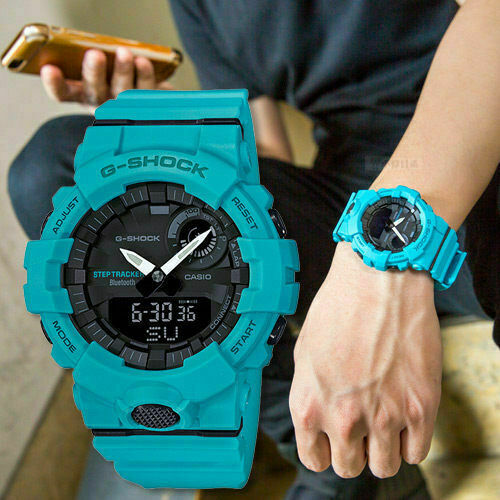 Casio G-Shock G-SQUAD Bluetooth Turquoise GBA800-2A2 GBA-800-2A2