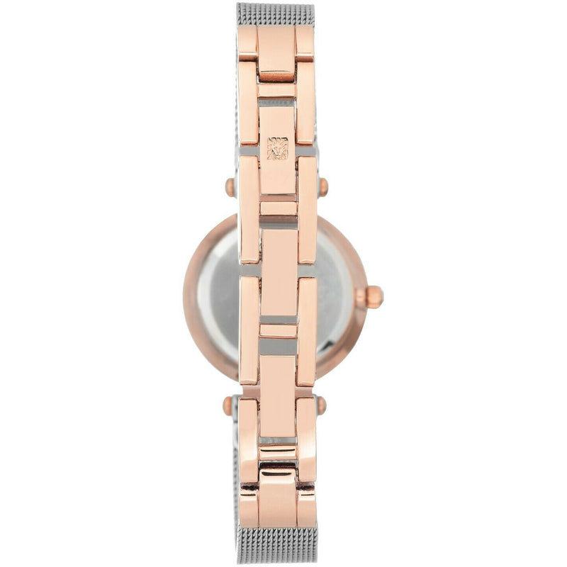 Anne Klein Women's Genuine Diamond Dial Mesh Bracelet Watch, 3003-SVRT