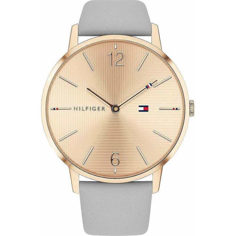 Tommy Hilfiger Women's Casual Stainless Steel Quartz Watch with Leather Strap, G