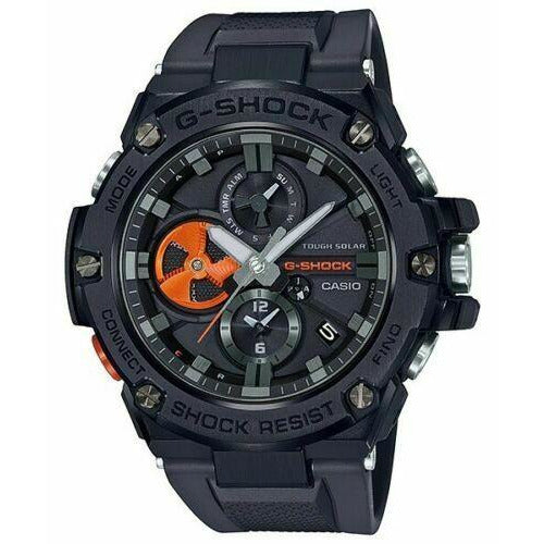 Casio G-Shock GSTB100B-1A4 G-STEEL Tough Solar Bluetooth Black Strap Watch