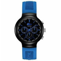 Lacoste Borneo Black Dial Poly Silicone Chronograph Quartz Watch 2010654