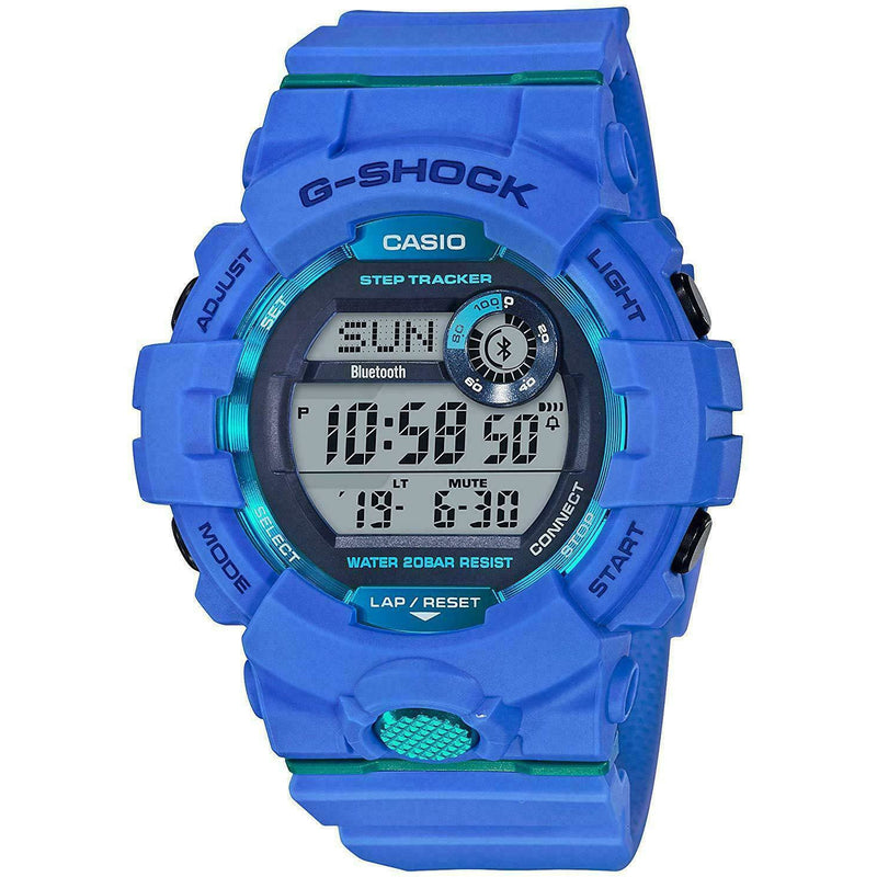 CASIO G-SHOCK G-SQUAD STEP TRACKER, GBD800-2 GBD-800-2, BLUETOOTH WATCH, BLUE