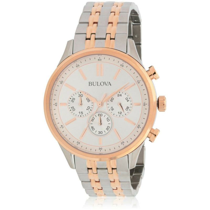 BULOVA MEN TWO-TONE CHRONOGRAPH MEN WATCH 98A216