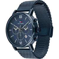 Tommy Hilfiger Mens Quartz Watch, Chronograph and Stainless Steel Strap 1710397