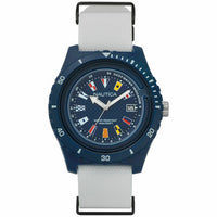 Nautica Watch NAPSRF002 Surfside, Analog, Water Resistant, White Band, Blue Dial