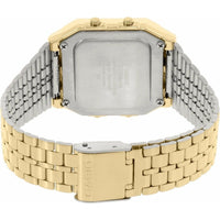 Casio A500WGA-1D World Time Digital Stainless Steel Watch WORLD MAP Gold