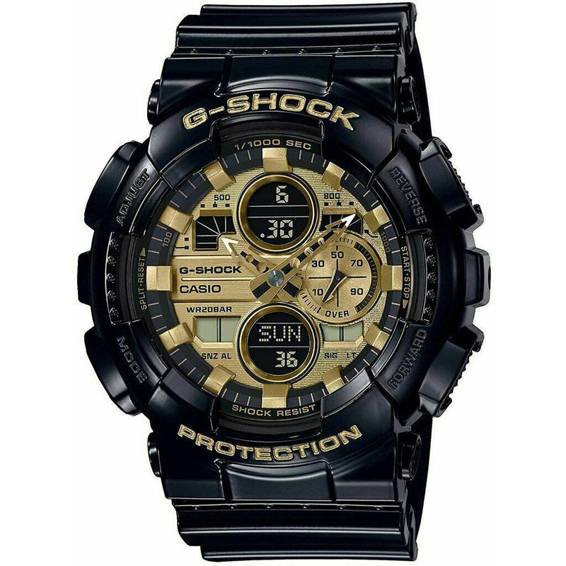 Casio G-Shock GA-140GB-1A1 Analog-Digital Gold Dial Black Strap Men's Watch