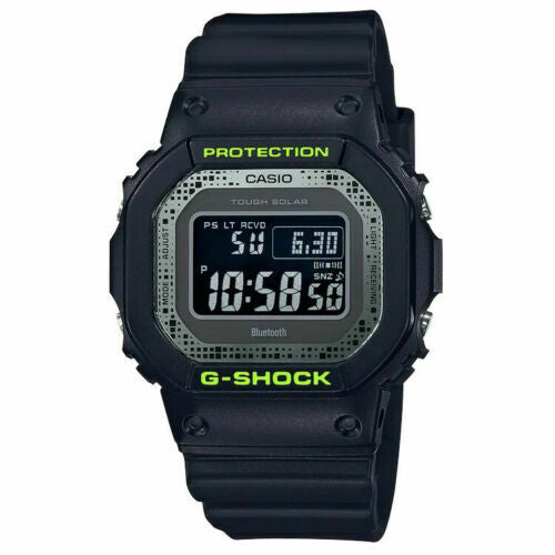 Casio G-Shock GWB5600DC-1 Digital Camo Camouflage Square Watch Black Neon Yellow