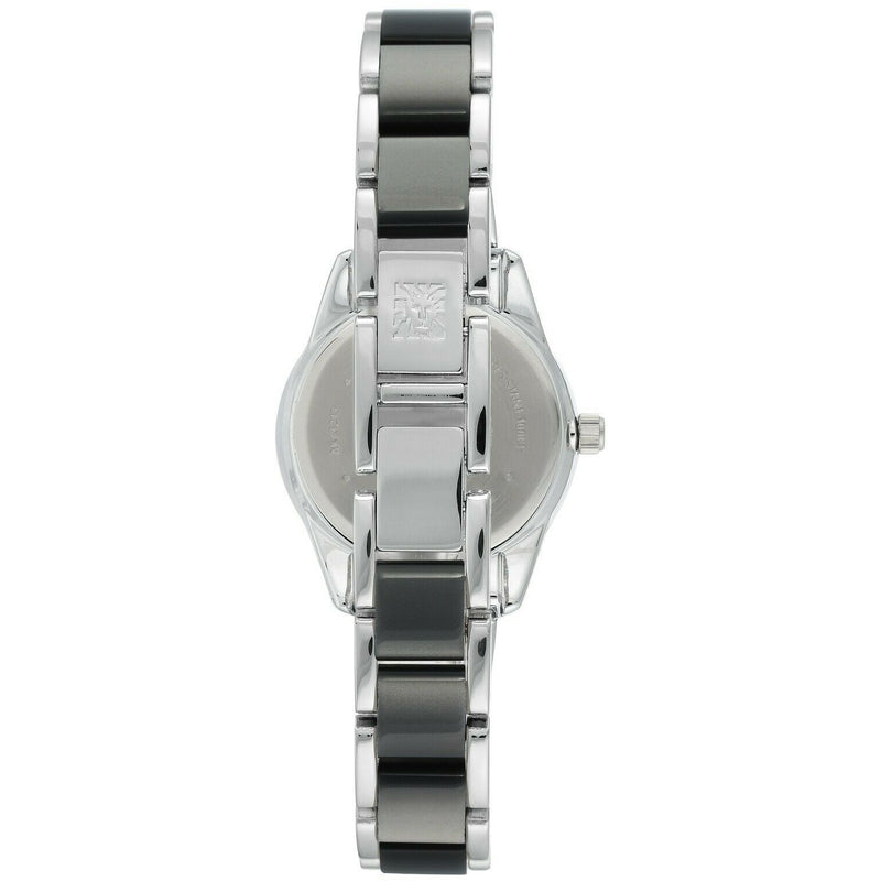 Anne Klein Women's Resin Bracelet Watch, grey glossy dial. 3213-GYSV