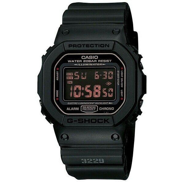 Casio G-Shock Men's Military Series Black DW5600MS-1D