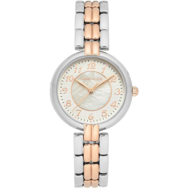 Anne Klein Women's Easy to Read Bracelet Watch, Two Tones 3657-MPRT