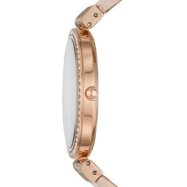 Fossil ES4537 Madeline 38MM Women's Blush Pink Leather Wrist Strap Watch