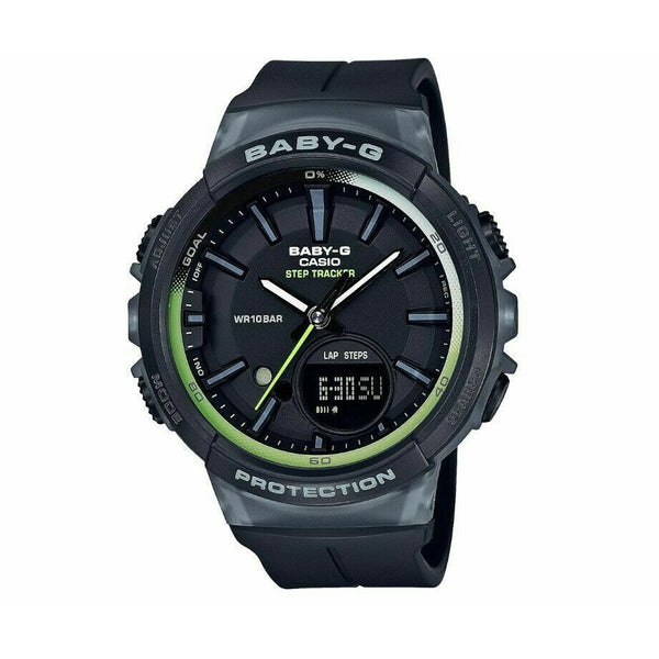 Casio Baby-G For Running Series Step Tracker Black Resin Strap Watch BGS100-1A