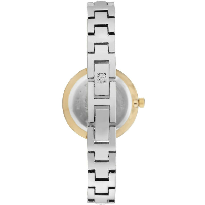 Anne Klein Women's Swarovski Crystal Accented Bangle Watch, Two Tone, 3249-SVTT