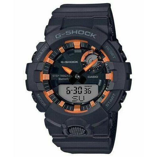 Casio G-shock GBA800SF-1A Bluetooth Step Tracker Black/Orange Ana-Digital Watch