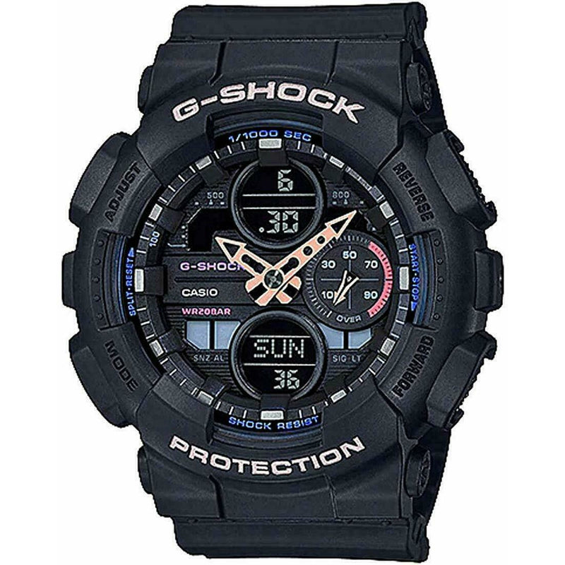 Casio GMAS-140-1A G-Shock S-Series Black Resin Band Women's Watch
