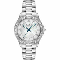 Bulova Womens Analogue Classic Quartz Watch with Stainless Steel Strap 96L265