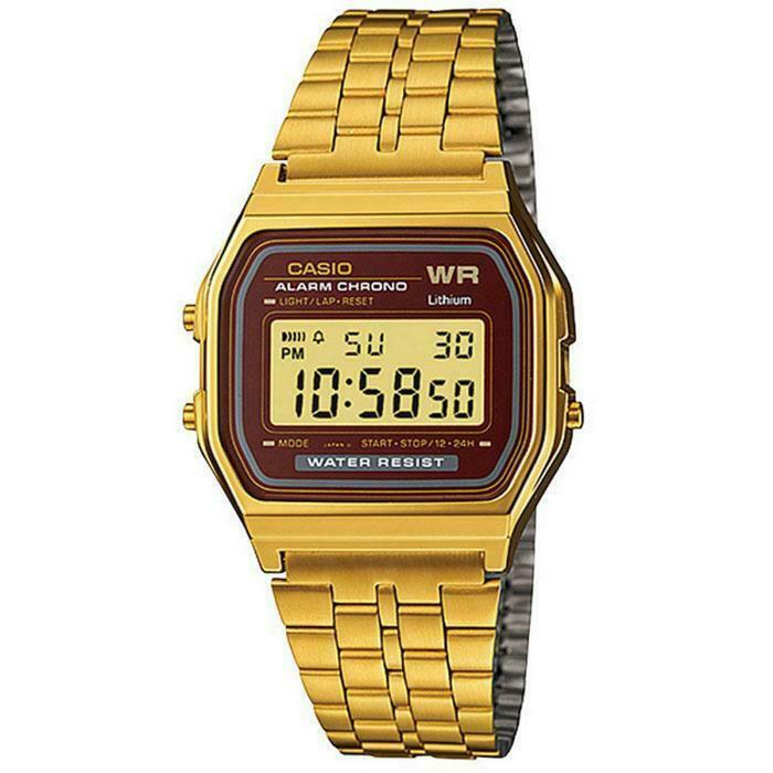 Casio Vintage Collection Digital Unisex Bracelet Watch (Gold) A159WGEA-5D