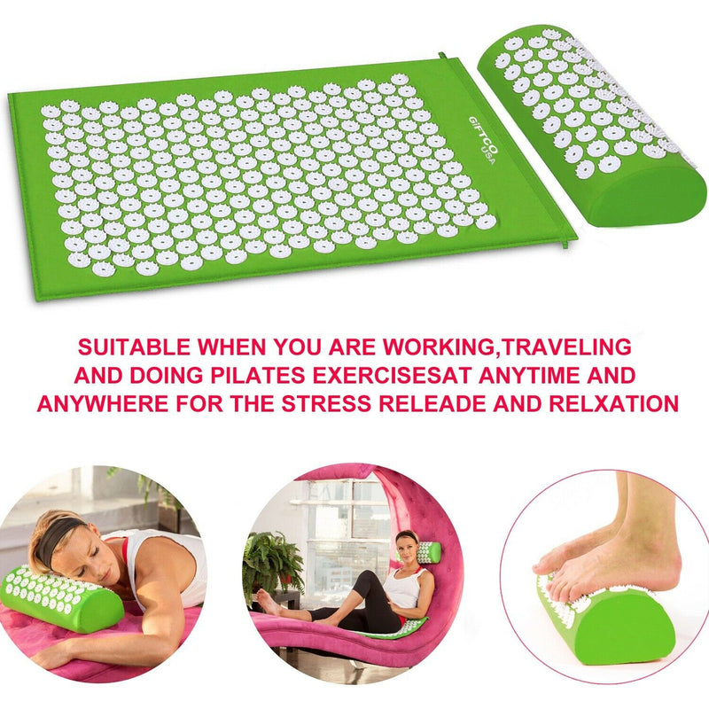 GREEN ACUPRESSURE MAT GIFTCO-USA