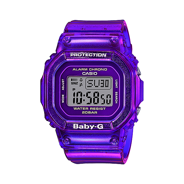Casio G-Shock Baby-G BGD-560S-6 Digital Purple Resin Watch
