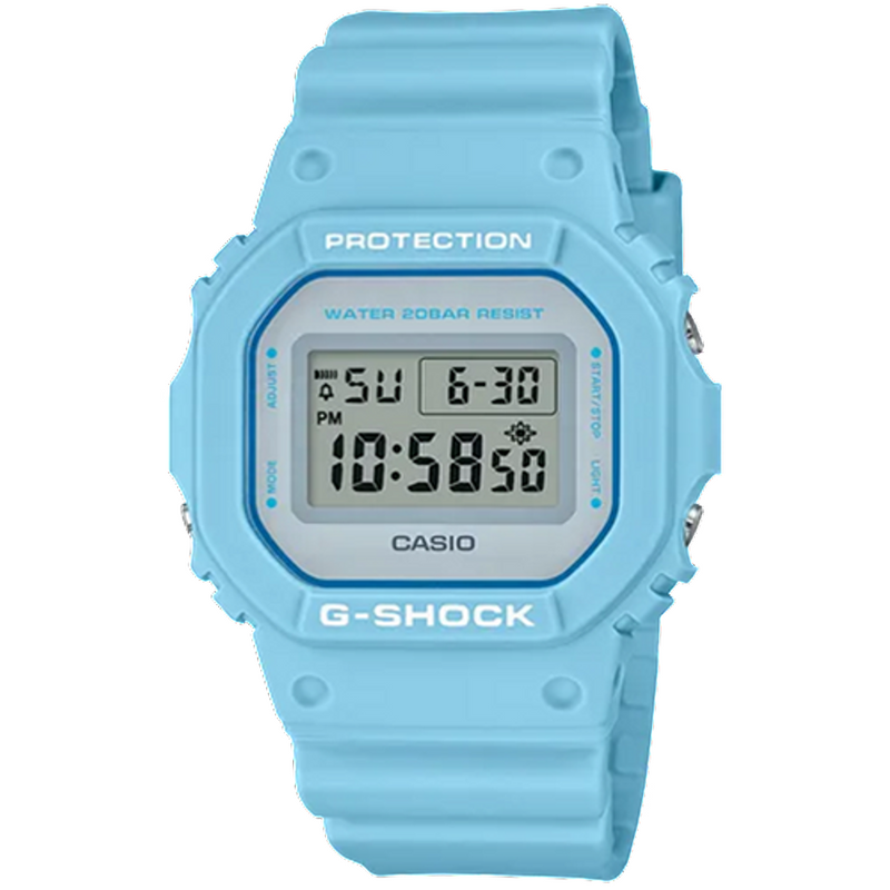 G-Shock Lineup Special Color Model Pale Blue Resin Band DW5600SC-2D