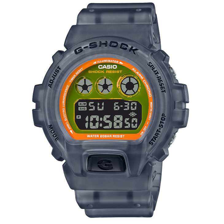 G-Shock By Casio Men's DW6900LS-1 Digital Watch Clear Black Timepiece Active NWT
